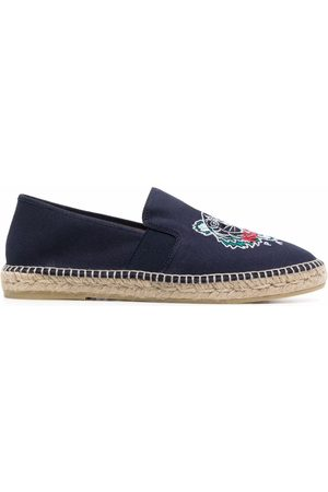 Kenzo Men Casual Shoes - Logo-embroidered jute espadrilles