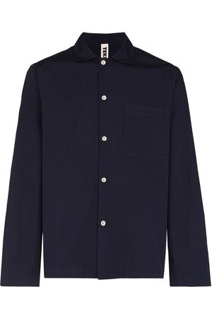 TEKLA Long-sleeve poplin pajama shirt