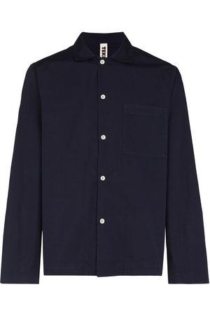 Tekla Men Long sleeves - Long-sleeve poplin pajama shirt