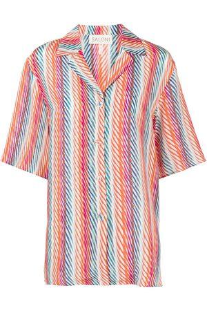 SALONI Women Short Sleeve - De Chine Silk Crepe shirt