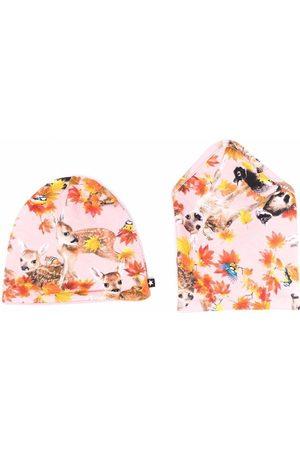 Molo Beanies - Floral-print beanie