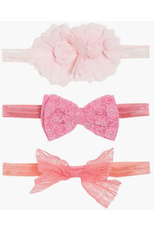 MINI KLUB FS Girls Textured Hair Band with Bow Detail - Pack of 3