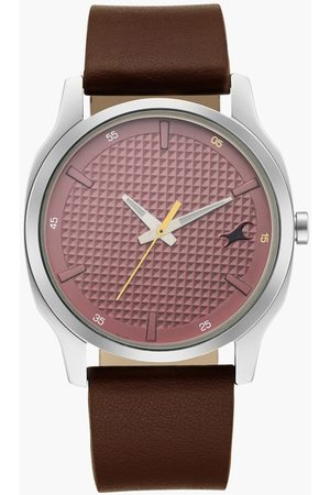 Fastrack Men Analog Watch with Leather Strap - 255SL01