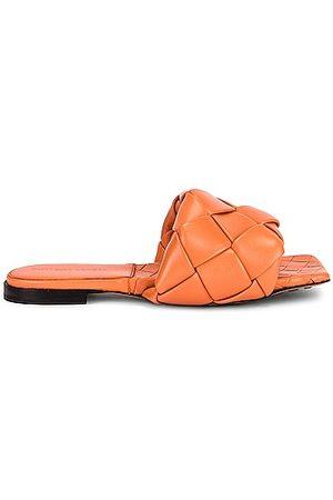 Bottega Veneta Lido Slip On Sandals in Papaya