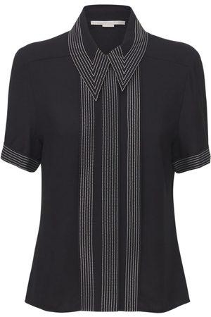 Stella McCartney Fluid Viscose Short Sleeve Shirt