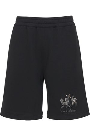 Burberry Printed Cotton Jersey Sweat Shorts