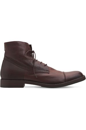 Pantanetti 30mm Leather Zip Ankle Lace-up Boots