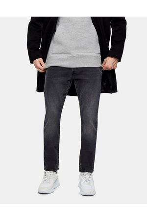 Topman Organic cotton blend slim jeans in washed