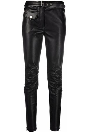 Moschino Faux-leather Slim-Fit trousers