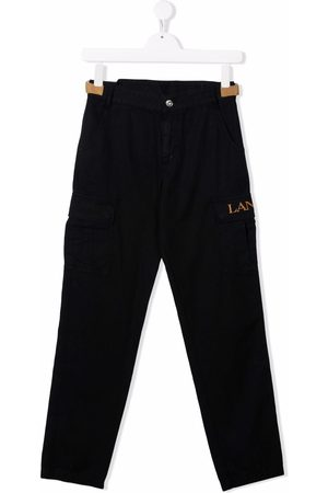 Lanvin Cargo Trousers - TEEN logo-embroidered cargo trousers