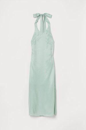 H&M Halterneck dress - Turquoise