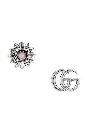 Gucci GG Marmont Flower Earrings in &