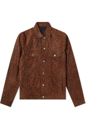 The Other Men Leather Jackets - Suede Over Printed Trucker Jacket