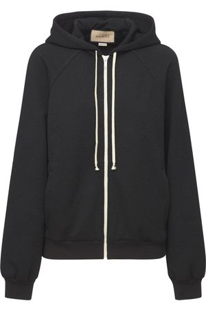 Gucci Women Jackets - Logo Jacquard Jersey Jacket W/ Hood