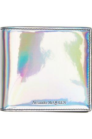 Men Wallets - Alexander McQueen Silver Blake Bifold Wallet