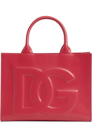 Dolce & Gabbana Small Beatrice Dg Embossed Leather Bag