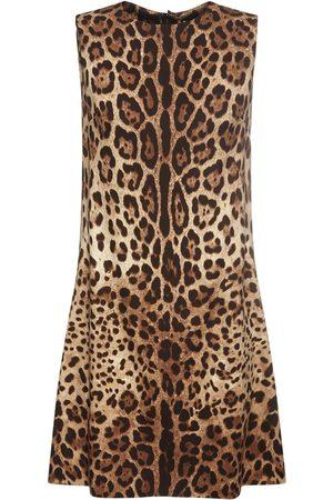 Dolce & Gabbana Leopard Print Silk Mini Dress