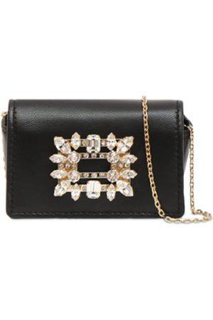 Roger Vivier Rv Brooch Leather Micro Bag