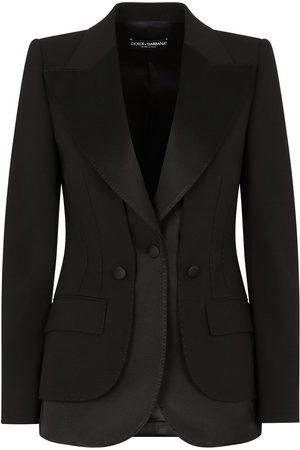 Dolce & Gabbana Women Blazers - Satin-trim blazer