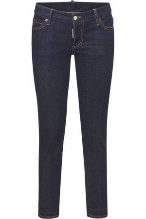 Dsquared2 Icon Jennifer Cropped Cotton Jeans