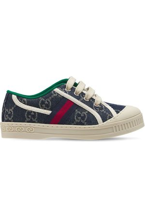GUCCI Girls Sneakers - Gg Tennis 1977 Cotton Lace-up Sneakers