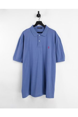 Polo Ralph Lauren Big & Tall player logo slim fit pique polo in marl