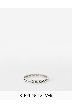 The Status Syndicate Status Syndicate sterling plaited ring