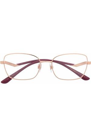 Dolce & Gabbana Rectangle-frame ribbed glasses