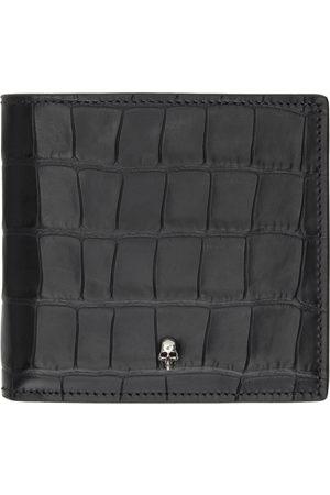 Alexander McQueen SSENSE Exclusive Croc Skull Bifold Wallet