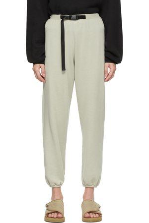 John Elliott Grey Vintage Fleece Belted Lounge Pants