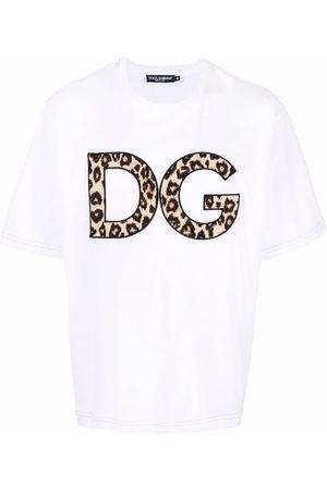 Dolce & Gabbana Men Short Sleeve - DG leopard-print patch T-shirt