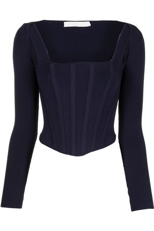 DION LEE Pointelle corset top