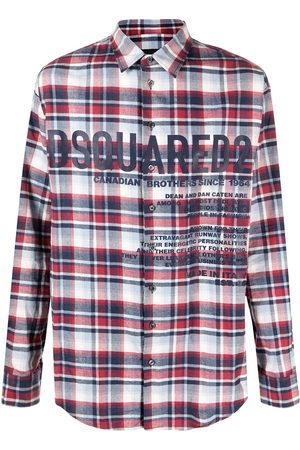 Dsquared2 Logo-print flannel shirt