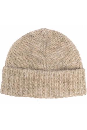 Maison Margiela Women Beanies - Ribbed wool beanie hat