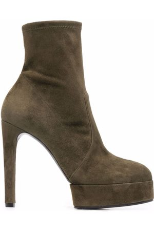Casadei Women Ankle Boots - Ankle-length platform suede boots