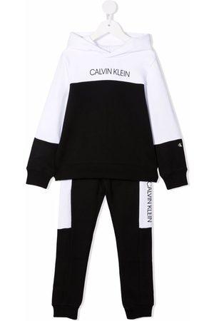 Calvin Klein Boys Sets - Two-tone cotton tracksuit set