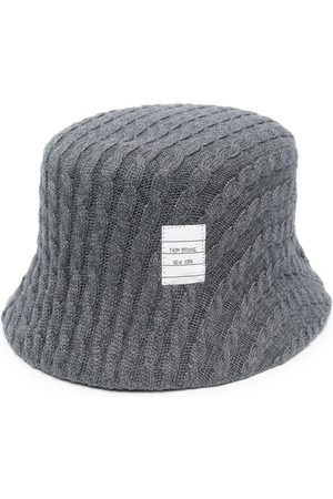 Thom Browne Men Hats - Cable knit bucket hat