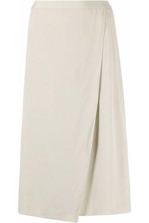 12 STOREEZ Women Midi Skirts - High-waisted wrap midi skirt