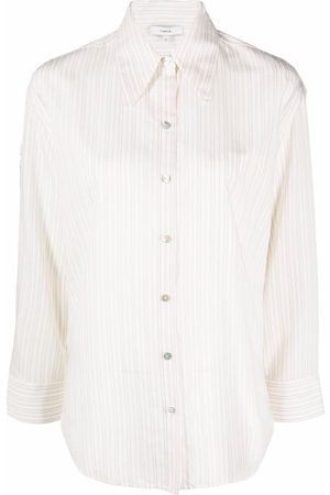 Vince Women Long Sleeve - Antique-stripe buttoned shirt