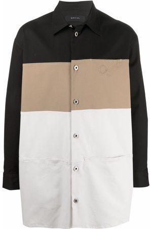 QASIMI Men Casual - Oversize striped shirt jacket