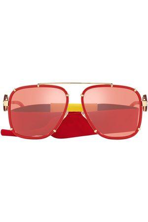 VERSACE Aviator-frame metal sunglasses