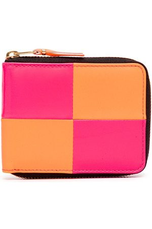 Comme des Garçons Bold-check zip-around wallet