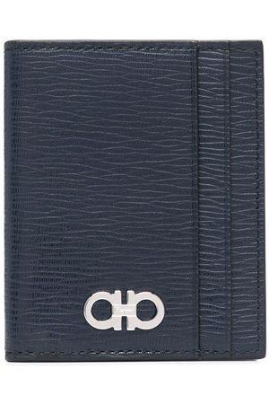 Salvatore Ferragamo Logo-print leather cardholder