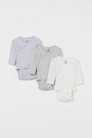 H&M 3-pack long-sleeved bodysuits - Grey