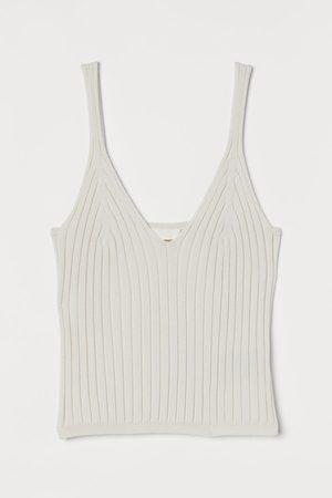 H & M Rib-knit strappy top