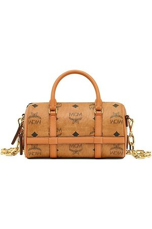 MCM Mini Delmy Boston Vistos Crossbody Bag