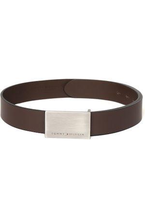 Tommy Hilfiger Men Coffee Brown Leather Belt