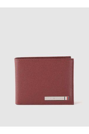 Tommy Hilfiger Men Burgundy Solid Leather Two Fold Wallet