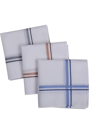 RICHARD PARKER by Pantaloons Men Pack Of 3 White Solid 100% Cotton Accessory Gift Set