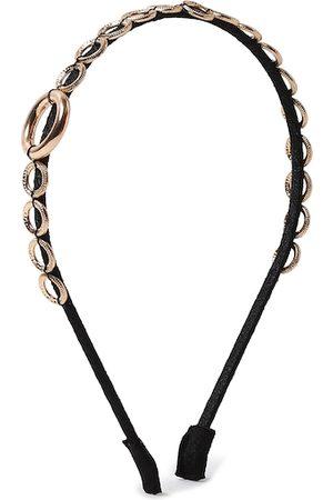 Forever 21 Women Black & Gold-Toned Embellished Hairband